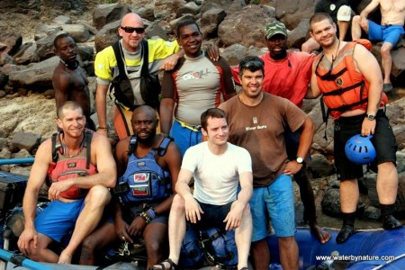 Jack Osbourne and Elijah Wood Rafting Group