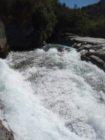 Andy running Cascade on the Shotover River