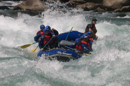 "Stan and crew paddling through ""Himalaya"" on the Futaleufu River"