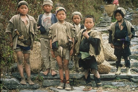 Young Gurung lads in Western Nepal