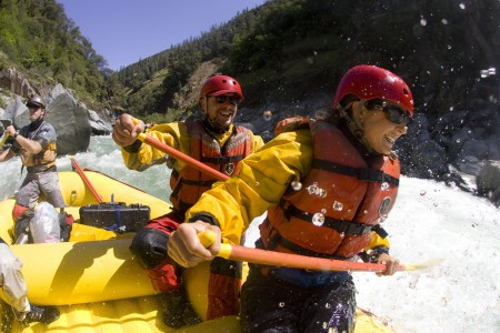 The stunning white water on the North Fork Of The Stanislaus
