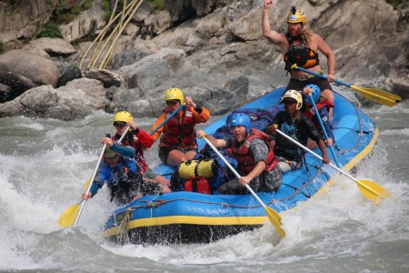 Big fun on the Tamur's 130 rapids in 120 km.