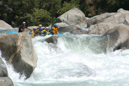 Cherry Creek offers steep committing rafting