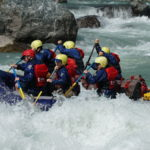 Thrill a minute rafting on the Tamur with 14 rapids in 120km