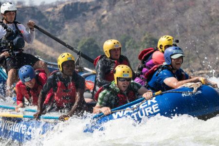 The Zambezi river is ALWAYS 100% fun.