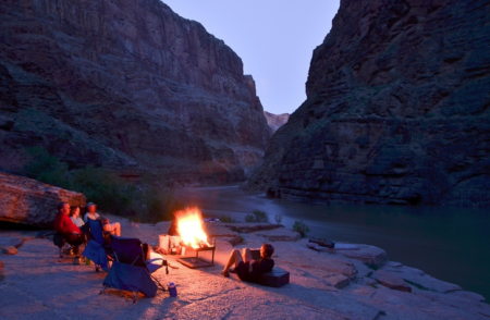 The stunning 'Ledges' Campsite in the Grand Canyon