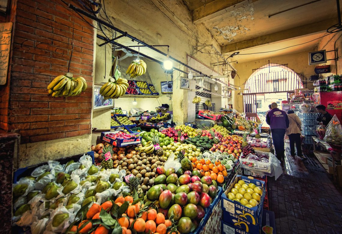 Image of fresk fruit in Marrakech market