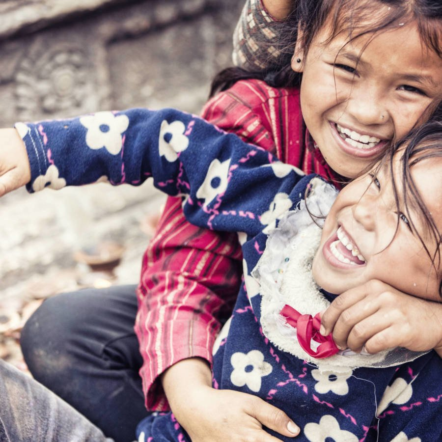 Image of smiling Nepali girls