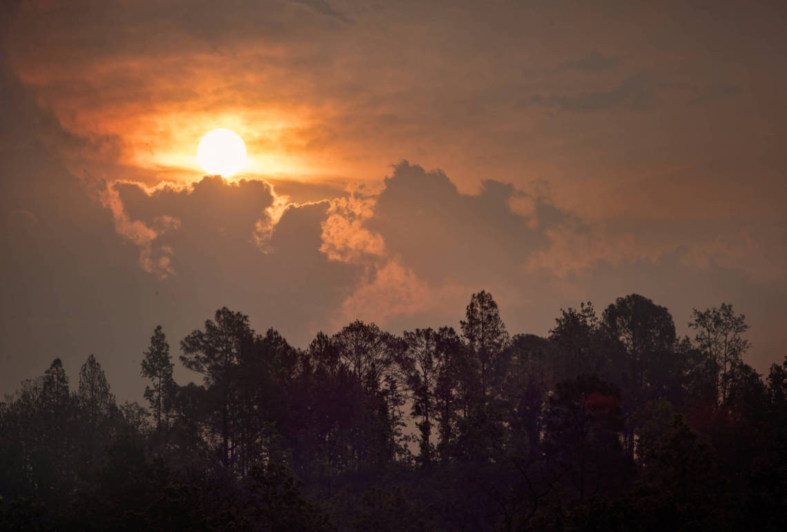 Image of sunset in Nepal