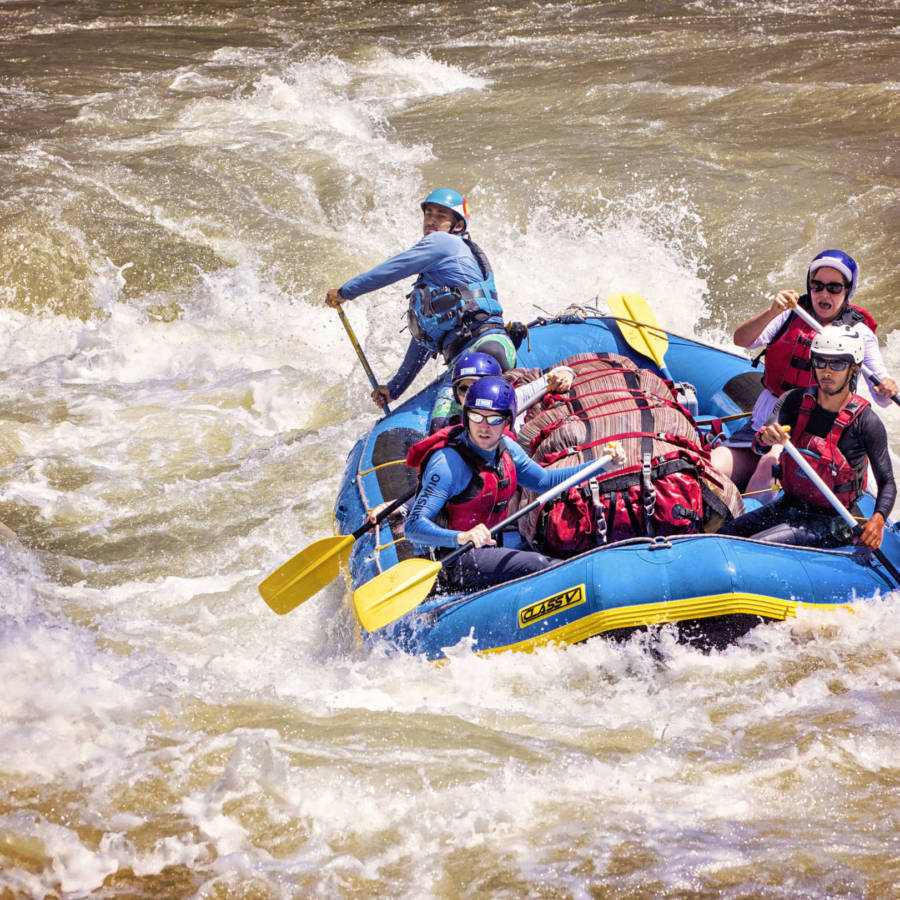 Image of raft on river in Nepal