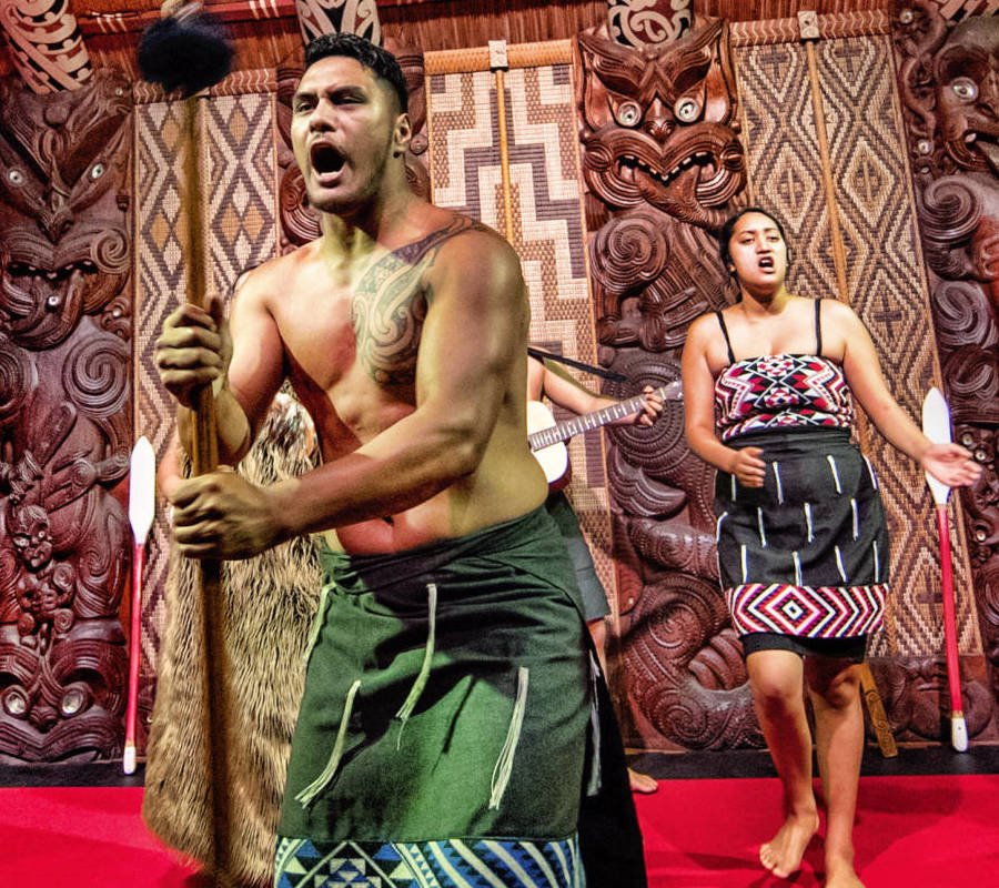 Image of maori cultural show at Waitangi