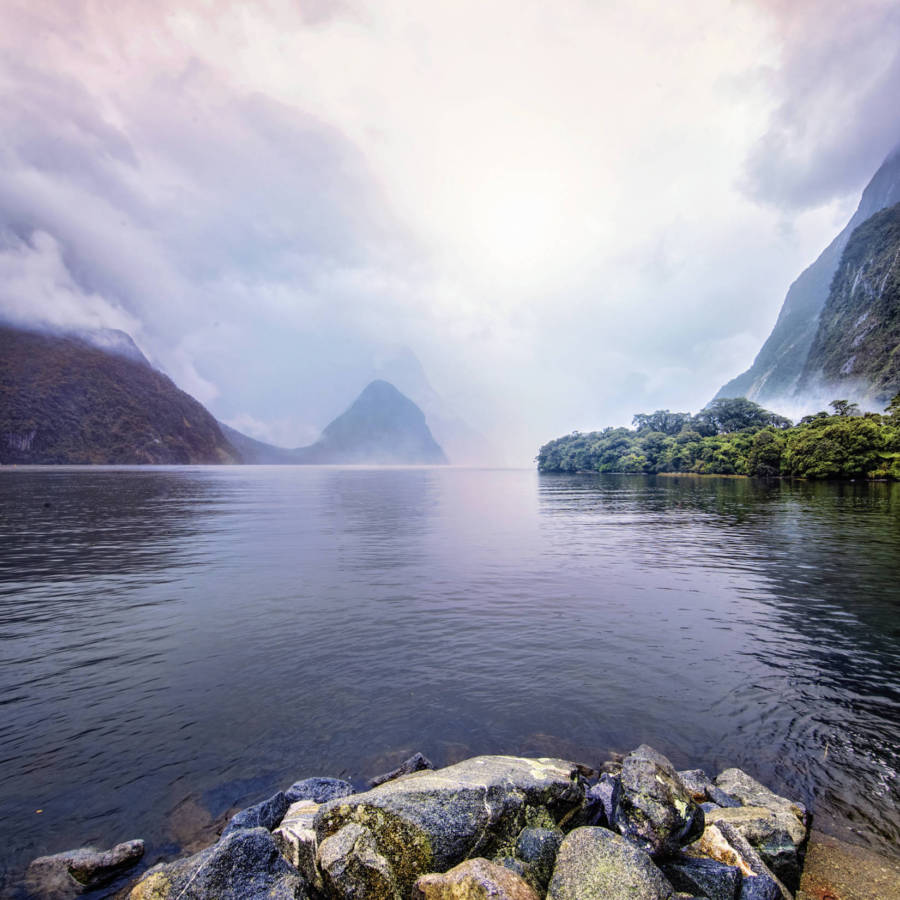 Image of Mitre Peak and Milford Sound