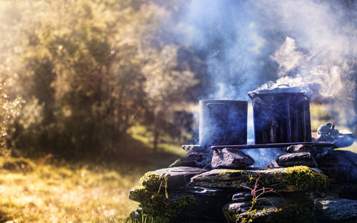 Image of cooking in the outdoors in New Zealand