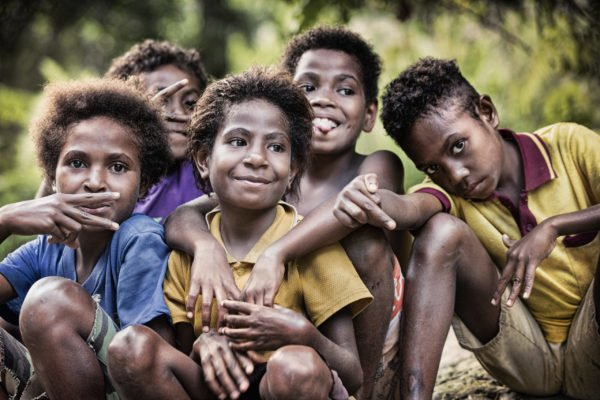 Genuine smiles in Papua New Guinea