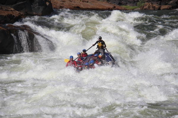 World Class rapids on the Zambezi