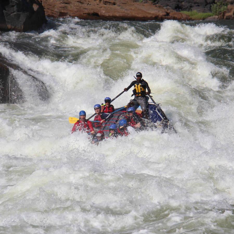 World Class rapids on the Zambezi