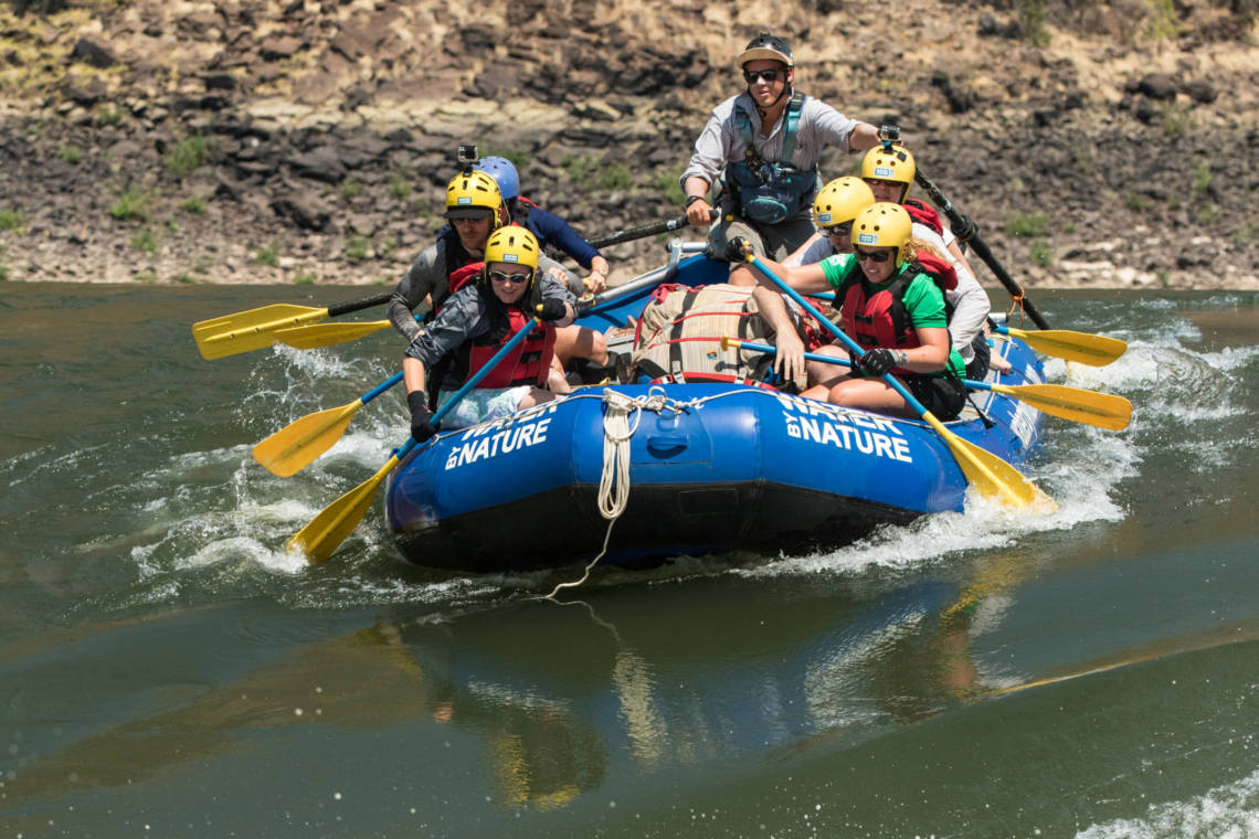 Image of rafting on the Zambezi River