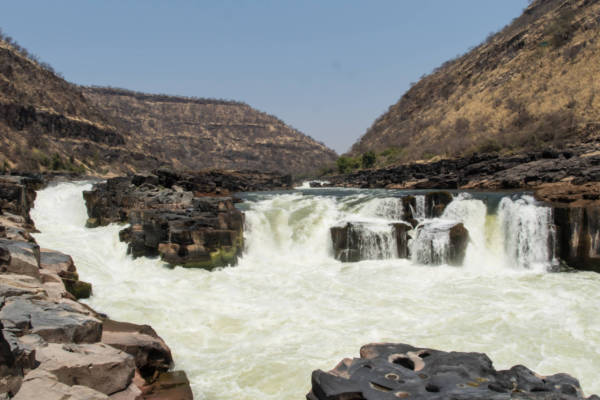 The damsite (Chabango Falls) 54 km from Victoria Falls
