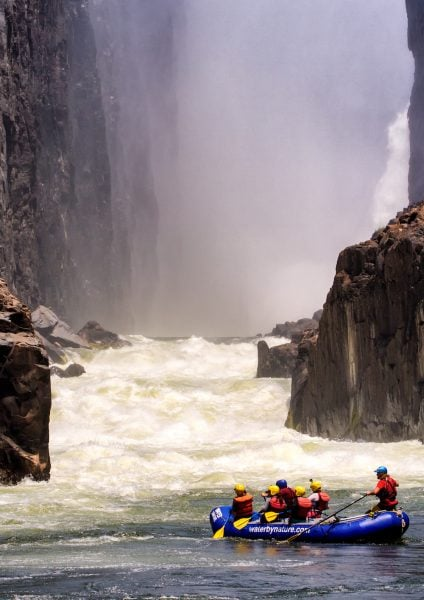 """Victoria Falls - The Most Spectacular Rafting """"Put In"""" In The World"""