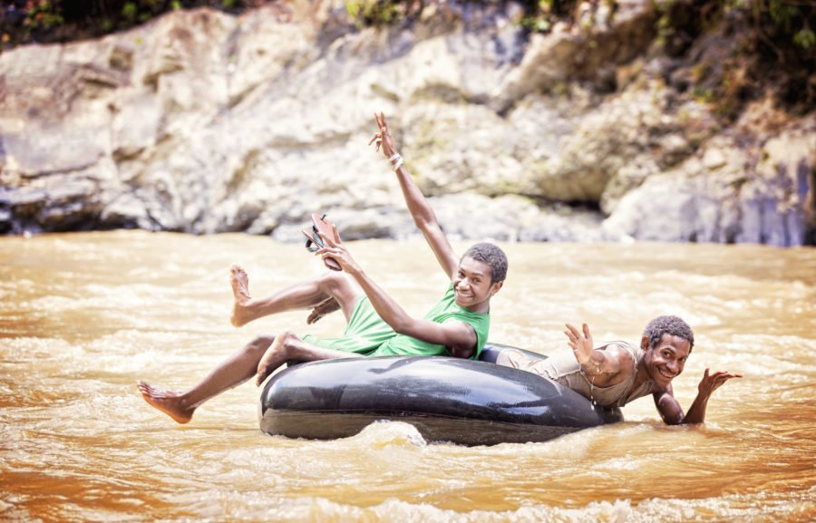 The local kids LOVE tubing through the rapids (the smaller ones)